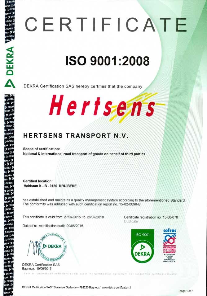 Certificaat ISO9001